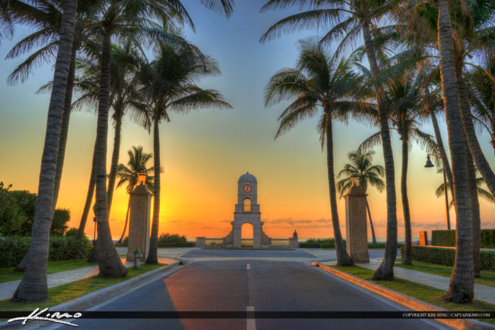 Sunrise at Worth Avenue on Palm Beach Island photo