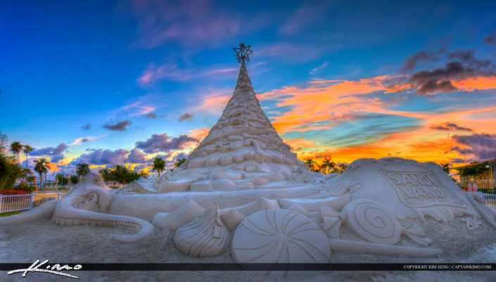 Christmas Sand Tree West Palm Beach Florida photo